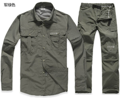 Men/'s Quick-Drying Shirts /& Pants Outdoor Sports Removable Sleeve /& Legs TS-070