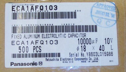 10000uf 10V 105/' RADIAL ELECTROLYTIC CAPACITORS ECA1AFQ103 PANASONIC QTY 50