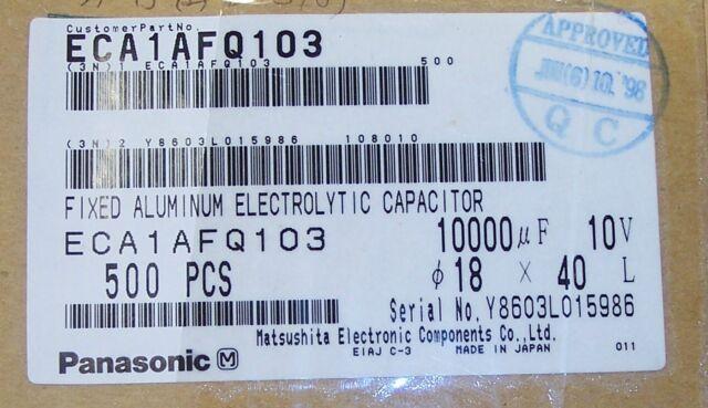500 Pcs Panasonic ECA1AFQ103 Capacitors for sale online