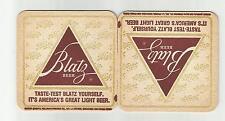 """Lot of 5-1970's Blatz Beer Coasters=LaCrosse WI """"  3 1/2"""" #028 """"Taste -Test"""""""