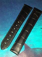 OMEGA Genuine adattabile a qualsiasi 19mm larghezza Lug Nero Cinturino in Alligatore 98000028 Distribuzione