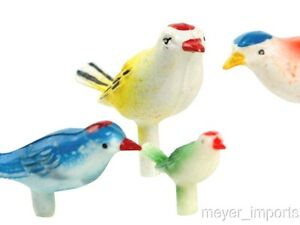 Vintage-Colorful-Song-Birds-German-Imports-24-Pieces-IV3-3512