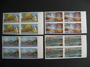 CONGO-PEOPLES-REPUBLIC-SC-489-92-Captain-cook-MNH-imperf-blocks-of-4-very-nice