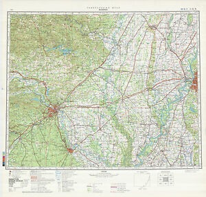 Russian Soviet Military Topographic Maps - state ARKANSAS (USA), 1 ...
