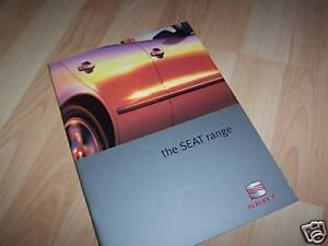 100% Vrai Catalogue / Brochure Seat Gamme 1999 //