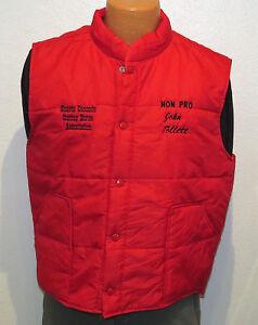 vtg-SHASTA-CASCADE-CUTTING-HORSE-Red-Ski-Vest-LARGE-80s-90s-riding-rodeo-farm-L