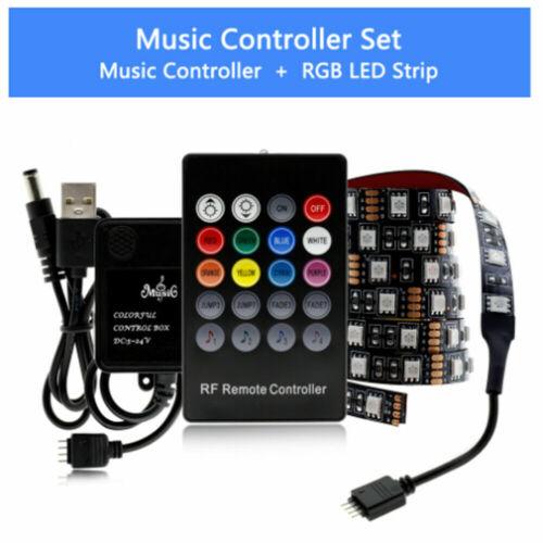 RGB LED Light Strip Bar TV Room Background Atmosphere Decor USB Remote Control