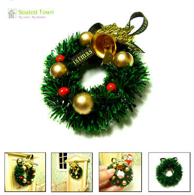 1:12 Scale Dollhouse Miniature Christmas Wreath Garland Christmas Ornaments