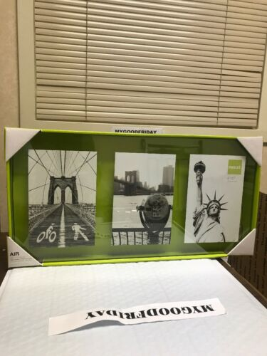 """nexxt Air Floating Glass Wall Photos Collage Frame 3- 4"""" by 6"""" Size 18""""-1""""-8"""""""