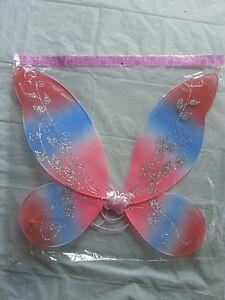 Rainbow Fairy Wings glitter  costume dress up Halloween