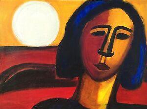 Woman-in-the-evening-sun-Denmark-Scandinavian-Modern-Art-1984-Hanne-Pedersen