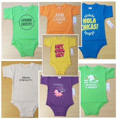 New Baby Boy Girl Funny Shirt One Piece Snap Suit Top 3 6 9 12 months T-Shirt
