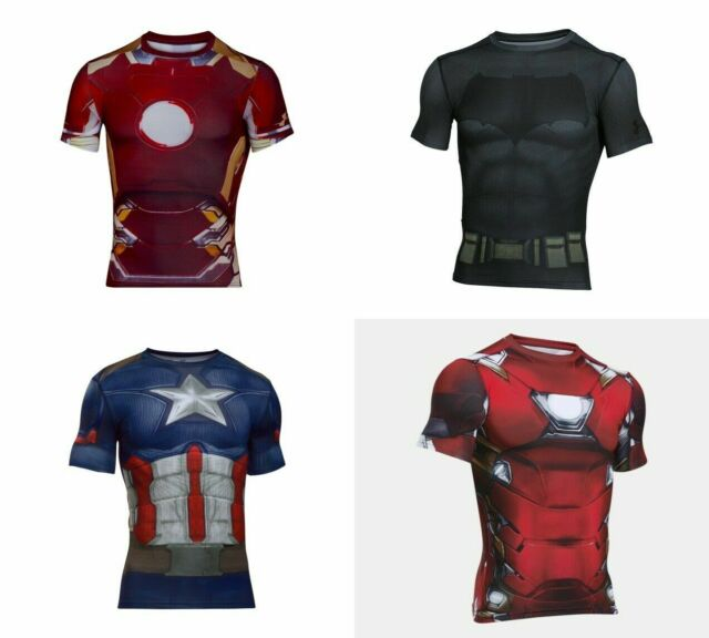 Verschiedene Herren Größen Under Armour alter ego Marvel & DC Heroin Kompression Shirt