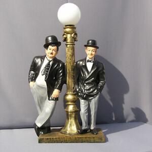 Dick und Doof Stan & Olli Figur Stehlampe Lampe Statue Skulptur Deko Laterne