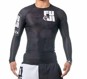 Black Fuji Sports Baseline IBJJF Ranked BJJ Jiu Jitsu Long Sleeve LS Rashguard