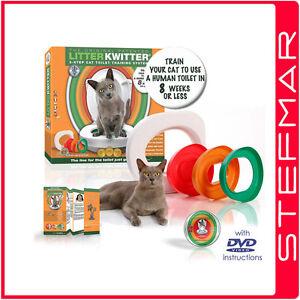 GENUINE-Litter-Kwitter-Cat-Toilet-Training-System-Litter-Tray