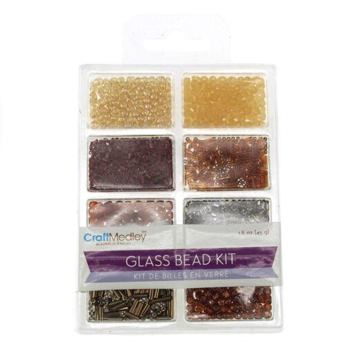 45-gram Loose Glass Beads Kit Crafts