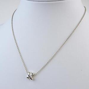 df87fca84 Tiffany & Co. Sterling Silver Mini Criss Cross X Pendant Necklace in ...
