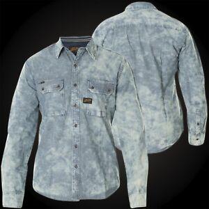 ec8d73818ba Image is loading AFFLICTION-Mens-Button-Down-Shirt-SUNSET-BLUES-Indigo-