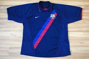4ed8cdaff BARCELONA FC AWAY FOOTBALL SHIRT JERSEY 2002-2003-2004 NIKE SIZE XL ...