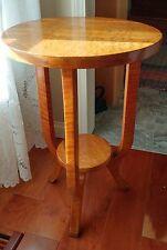 Vintage Birdseye Maple Decorative Display Side Lamp Table