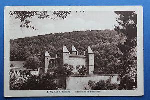 Tarjeta-postal-antigua-LIMONEST-Castillo-de-la-Baroliere