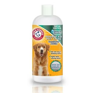 Arm hammer dog puppy dental water additive rinse tartar for Dog dental water additive