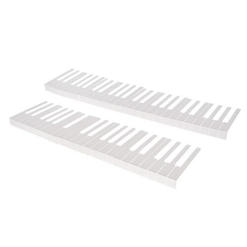 1 Satz 52 Tasten Klaviertastatur Ersatz Tastenkits Kit Klavier DIY Teile