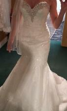 Allure 2667 Wedding Gown Mermaid lace size 6 white strapless sweetheart