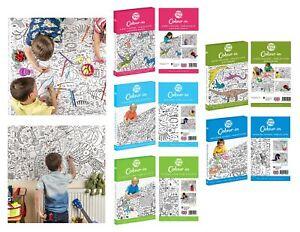 Coloriage Geant Licorne.Eggnogg A Colorier Poster Geant Nappe Fete Pour Enfants Licornes