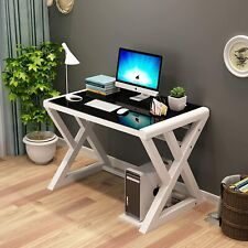 Glass Computer Desk Simple Pc Laptop Study Workstation Table For Home Office