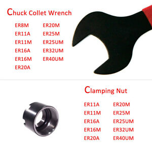ER8M Wrench For ER Lathe Clamping Nut CNC Milling Lathe Collet Chuck