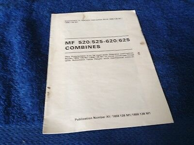 Tractor Manuals & Publications Mf 520/525/620/625 Combines Supplement