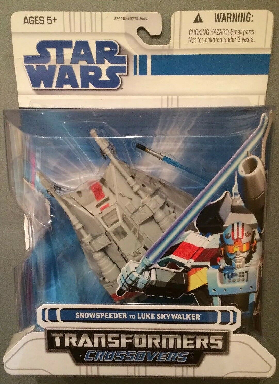 2008 - Ultra RARE -Star Wars Transformers Crotvers Snowspeeder Luke Skywalker