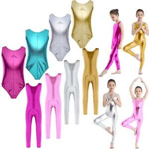 Kids-Girls-Leotard-Gymnastics-Ballet-Dress-Tutu-Party-Dance-Wear-Costume-Unitard