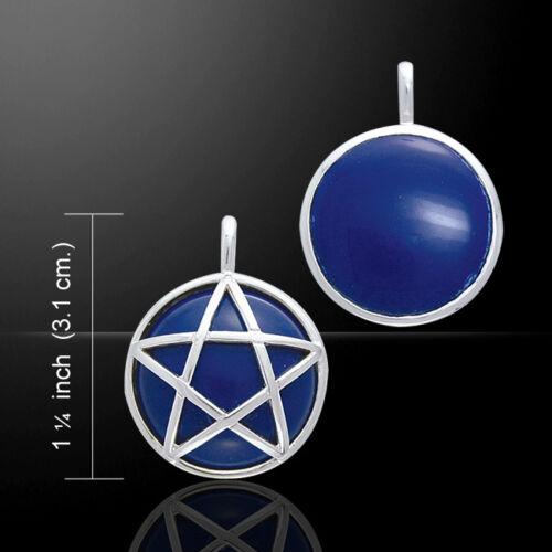 Pentagram Pentacle .925 Sterling Silver Flip Pendant Choice of Gem Peter Stone