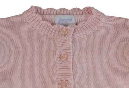 JACADI Girl/'s Balade Pale Pink Long Sleeve Cotton Cardigan Age 18 Months NWT $48