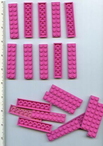 LEGO x 20 Dark Pink Plate 2 x 8 Belville Friends