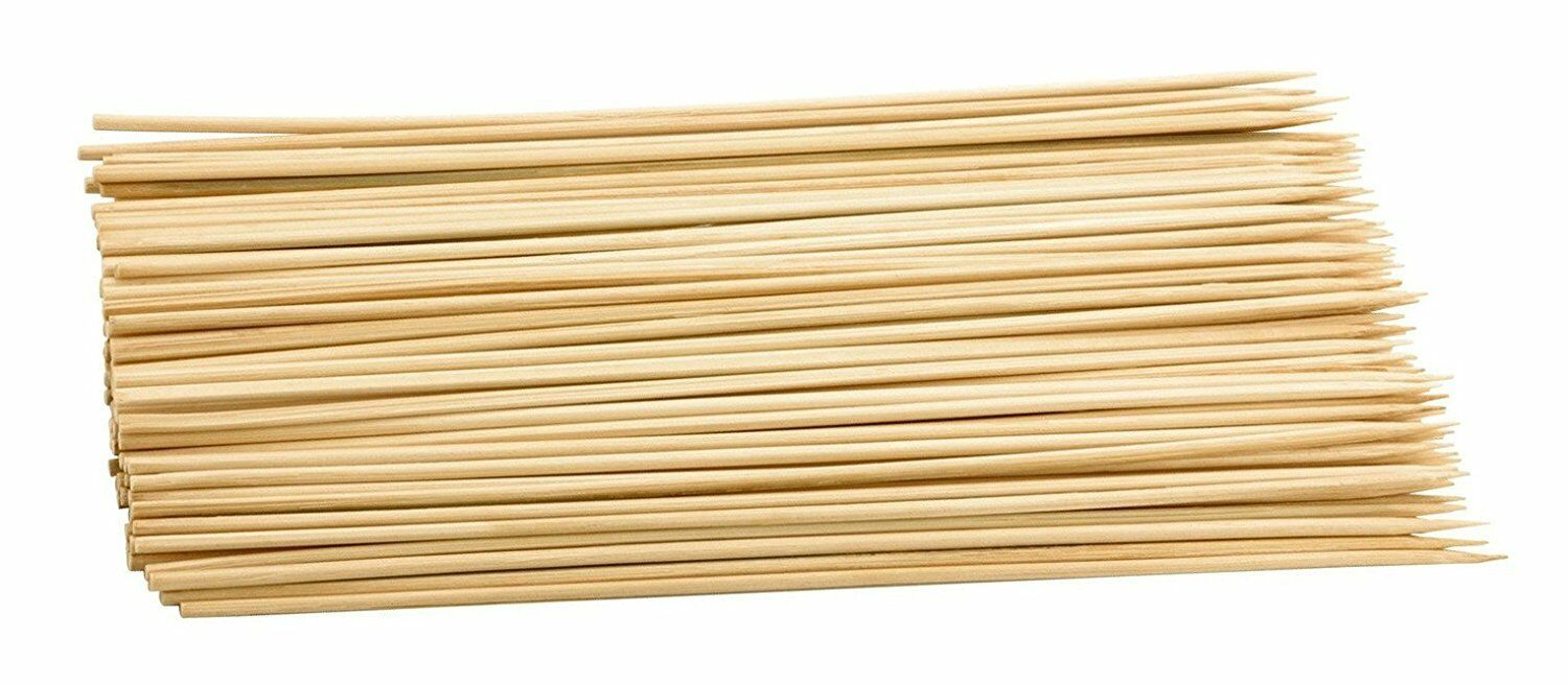 10,000 x Wooden Skewers 180mm 7  Biodegradable Disposable High Quality -50x200pk