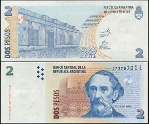Argentine 2 Pesos. NEUF ND (2012) Billet de banque Cat# P.352