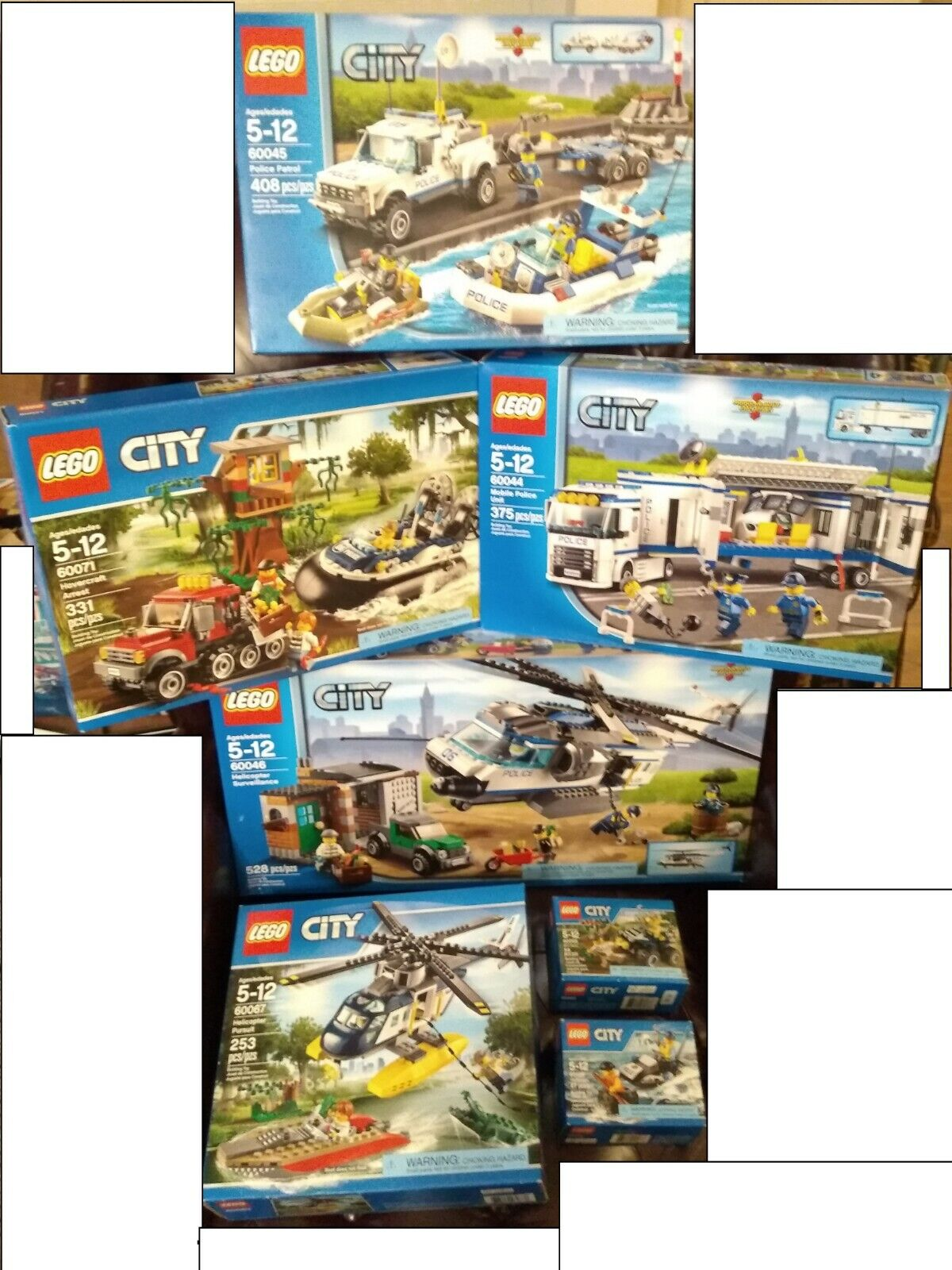 NEW 7 LEGO City Police Sets 60065 60067 60045 60046 60071 60044 60126 Retirot