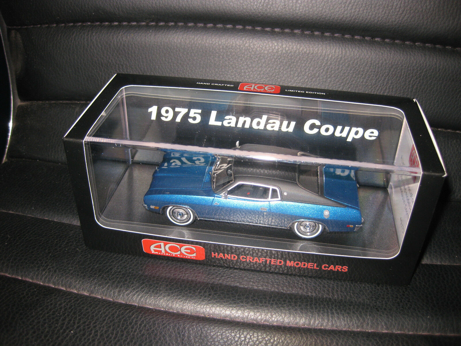 1 43 ACE 1975 FORD LANDAU COUPE COSMIC blu LIMITED EDITION OF JUST 75   AWESOME
