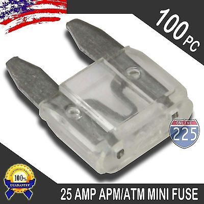 25 Pack 25A Mini Blade Style Fuses APM//ATM 32V Short Circuit Protection Car Fuse