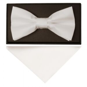 Aus Dem Ausland Importiert Plain Off White Hand Made Mens Bow Tie And Handkerchief Set Wedding Prom Bow Set