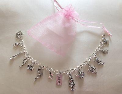 Alice In Wonderland Theme Charm Bracelet Birthday Christmas Gift Party Bag