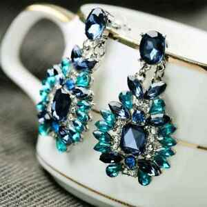 Crystal-Statement-Resin-Stone-Stud-Earrings-Women-Girls-Dangle-Drop-Earrings