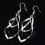 Vintage Femmes creux Goutte Oreille Stud Clip 925 Plaqué Argent Boucles D/'oreilles Bijoux