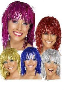 Parrucca-Donna-Cyber-Tinsel-Adulto-Anni-039-70-10214-Costume-Carnevale