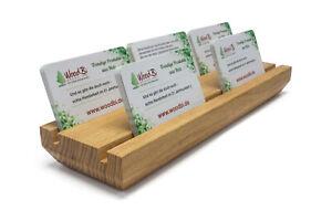 Details Zu Visitenkartenhalter Aus Holz Für Ihre Visitenkarten Ladentheke Büro Praxis