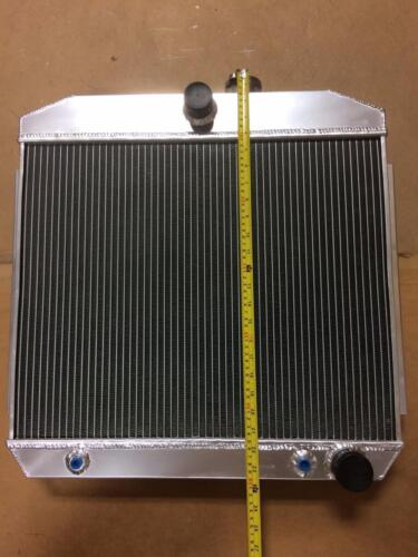 "Vintage Hot Street Rod Aluminum Radiator 3 Row w// Trans Cooler 23.5/"" x 23.5/"""